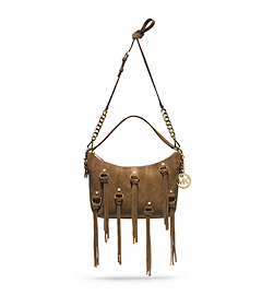 Presley Suede Medium Shoulder Bag