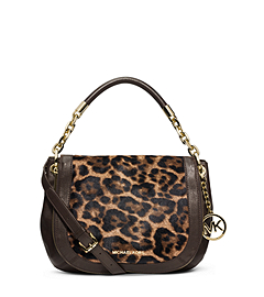 Stanthorpe Leopard Hair Calf Medium  Shoulder Bag