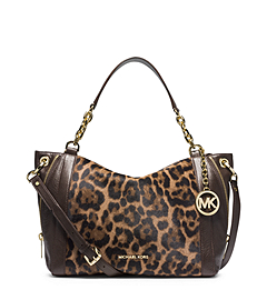Stanthorpe Leopard Hair Calf Large Satchel
