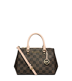 Sutton Logo Checkerboard Small Satchel