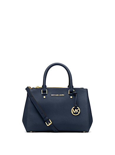 Sutton Small Saffiano Leather Satchel by Michael Kors