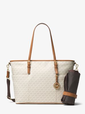 Jet Set Travel Logo Diaper Bag Michael Kors