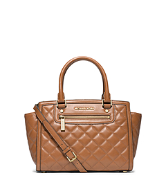 Selma Quilted Leather Medium Satchel