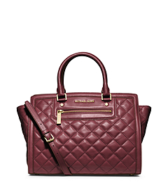 Selma Quilted Leather Large Satchel