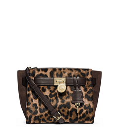 Hamilton Traveler Leopard Hair Calf Messenger