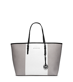 Jet Set Travel Tri-Color Saffiano Leather Medium Tote