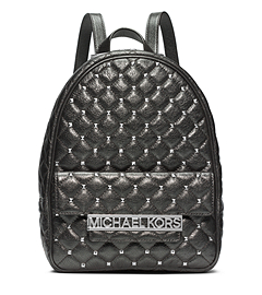 Kim Studded Metallic Leather Medium Backpack