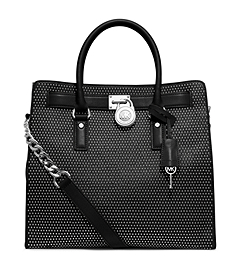 Hamilton Micro-Stud Leather Large Tote
