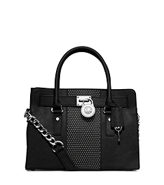 Hamilton Micro-Stud Leather Satchel
