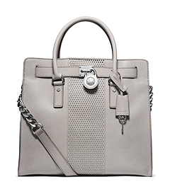 Hamilton Micro-Stud Leather Large Satchel