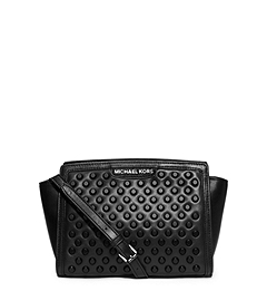 Selma Studded Leather Medium Messenger