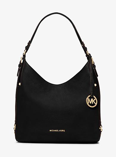 Bedford Large Leather Shoulder Bag by Michael Kors