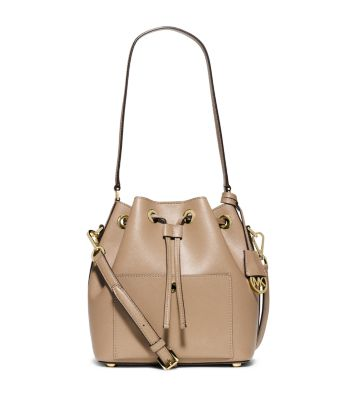 Greenwich Medium Saffiano Leather Bucket Bag
