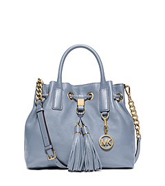 Camden Medium Leather Drawstring Satchel by Michael Kors