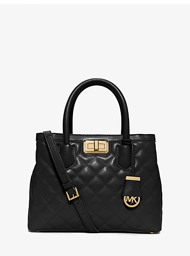 Hannah Medium Quilted-Leather Satchel by Michael Kors