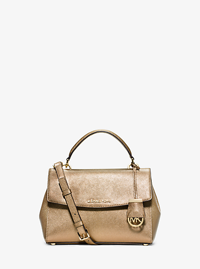 Ava Small Saffiano Leather Satchel by Michael Kors