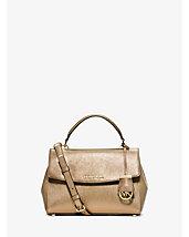 Ava Small Saffiano Leather Satchel