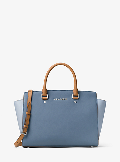 Selma Large Leather Satchel by Michael Kors