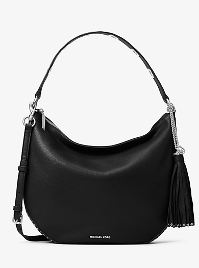 Brooklyn Large Convertible Leather Hobo by Michael Kors
