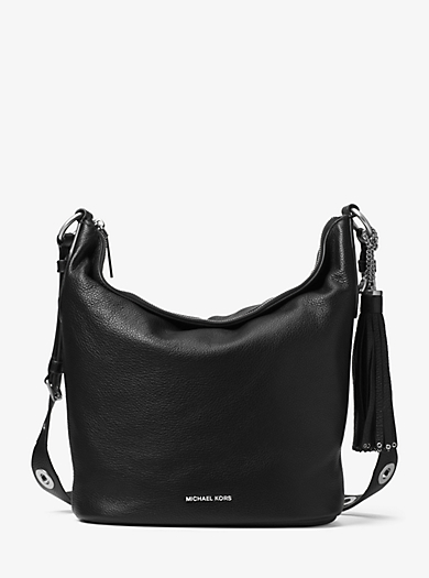 Brooklyn Large Leather Feed Bag by Michael Kors