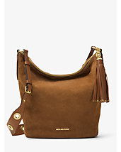 Brooklyn Large Grommet Suede Feed Bag