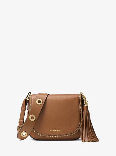 Brooklyn Medium Leather Saddlebag by Michael Kors