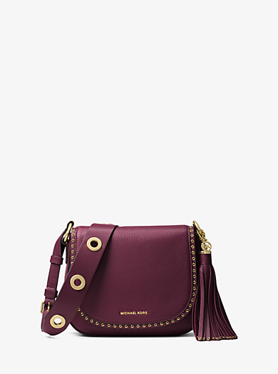Brooklyn Medium Leather Saddlebag by Michael Kors