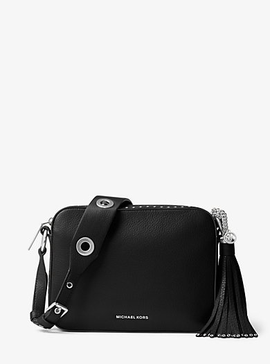 Brooklyn Large Leather Camera Bag by Michael Kors
