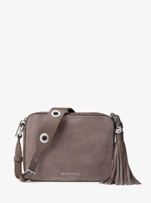 Brooklyn Large Suede Camera Bag          by Michael Kors