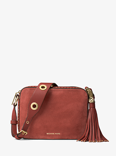 Kameratasche Brooklyn Large aus Wildleder by Michael Kors