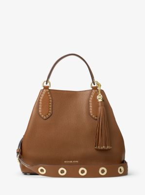 Brooklyn Large Leather Shoulder Bag by Michael Kors
