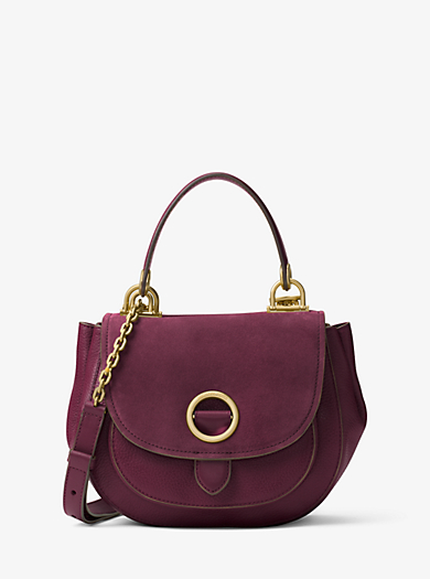 Borsa a mano Isadore media in pelle scamosciata by Michael Kors