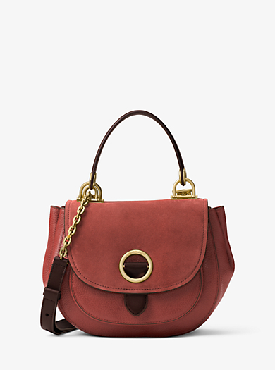 Isadore Medium Suede Satchel by Michael Kors