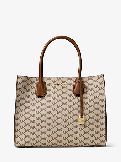 Mercer Large Heritage Signature Tote by Michael Kors