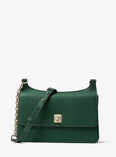 Natalie Medium Leather Messenger by Michael Kors