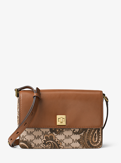 Natalie Medium Heritage Paisley Crossbody Wallet by Michael Kors