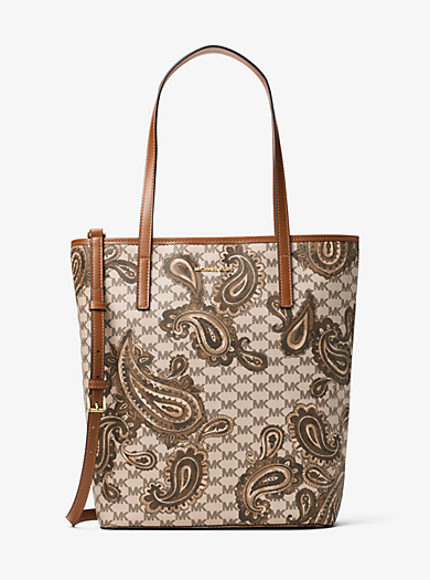 Emry Large North/South Heritage Paisley Tote by Michael Kors