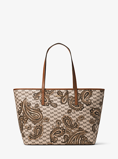 Tragetasche Emry Large Heritage mit Paisleymuster by Michael Kors