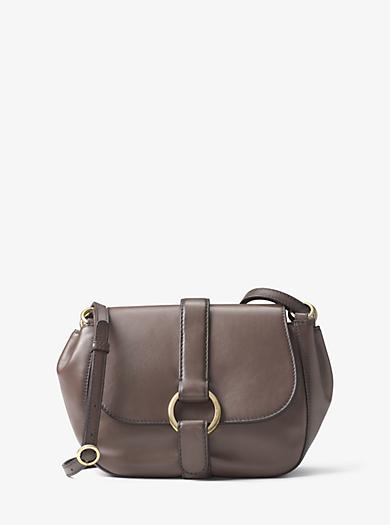 Quincy Medium Leather Saddlebag by Michael Kors