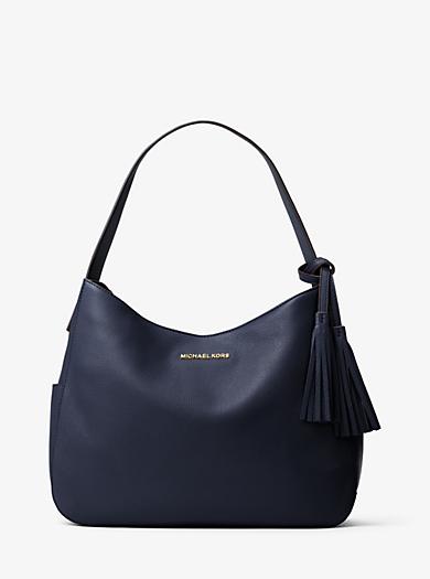 Ashbury Large Leather Shoulder Bag by Michael Kors