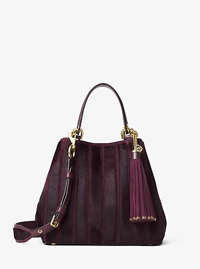 Brooklyn Medium Appliqué Suede Shoulder Bag by Michael Kors