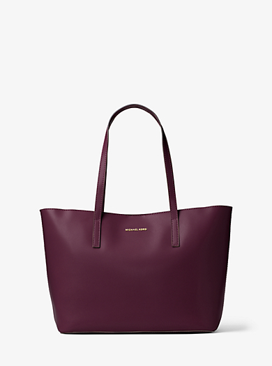 Emry Medium Leather Tote by Michael Kors