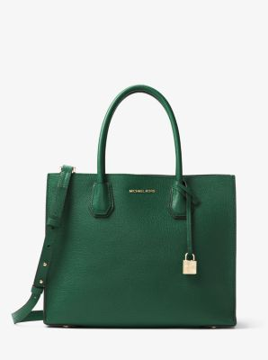 Mercer Large Bonded-Leather Tote by Michael Kors
