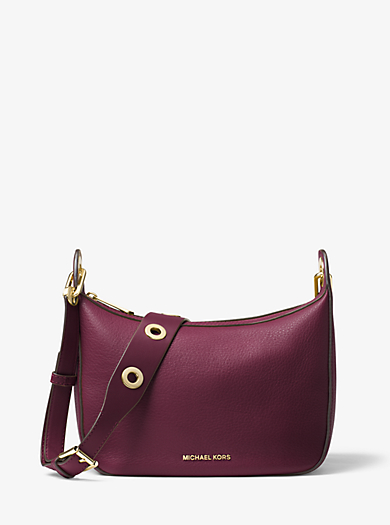 Raven Medium Leather Messenger Bag by Michael Kors
