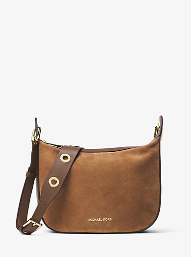 Raven Medium Suede Messenger Bag by Michael Kors