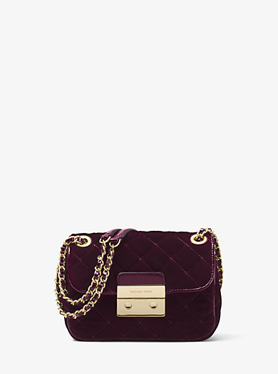Sloan Small Quilted-Velvet Shoulder Bag by Michael Kors