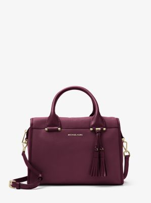 Geneva Large Leather Satchel by Michael Kors