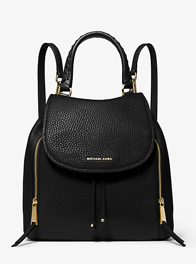 Viv Large Leather Backpack by Michael Kors