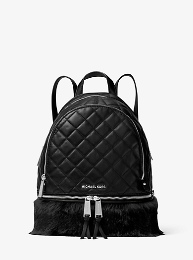 Rhea Medium Quilted-Leather Backpack by Michael Kors
