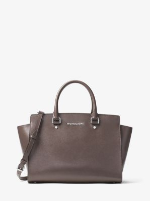 Selma Large Patent-Leather Satchel by Michael Kors